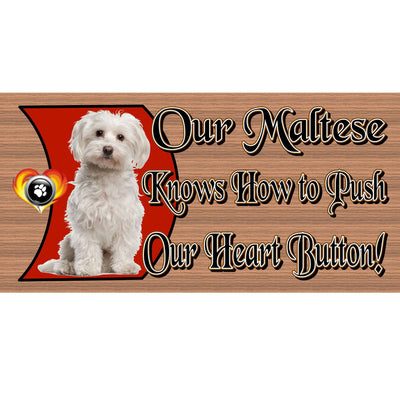 Maltese Wood Signs - Maltese GS 488- Dog Sign