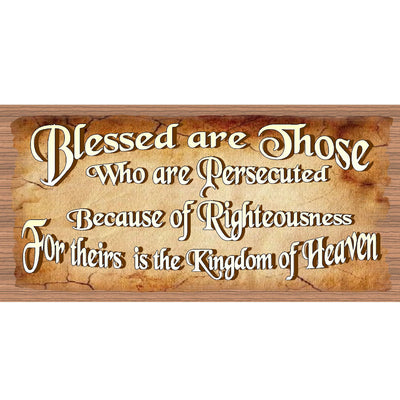 Spiritual Wood Signs - Blessed are Those who are Persecuted GS1943- Inspirational