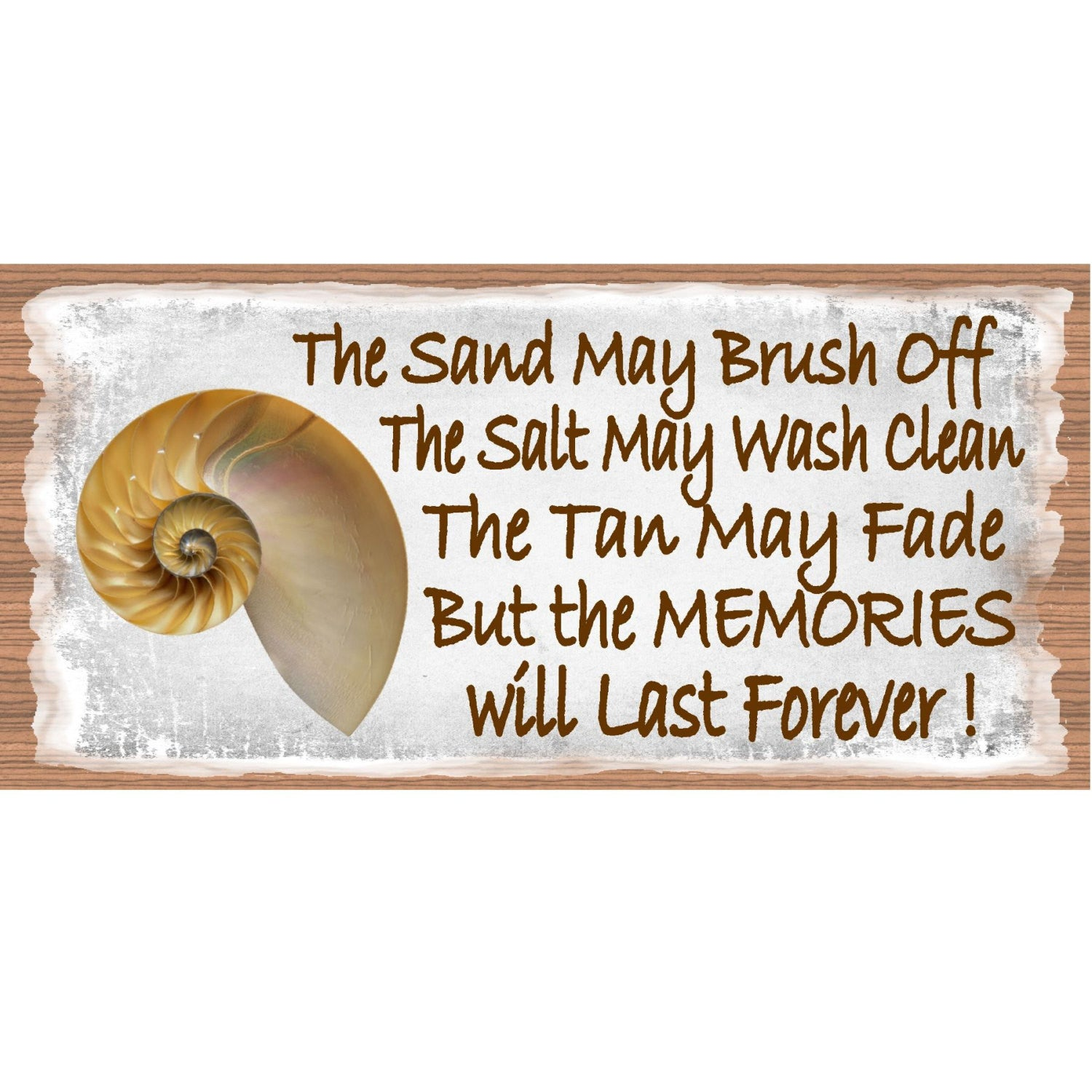 Beach Wood Signs - Beach Memories GS537-Beach Sign