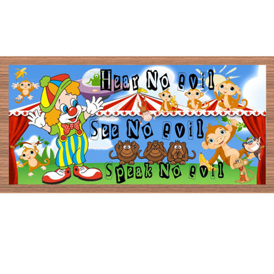 Circus  Wood Signs - GS 2124 -Circus Plaque