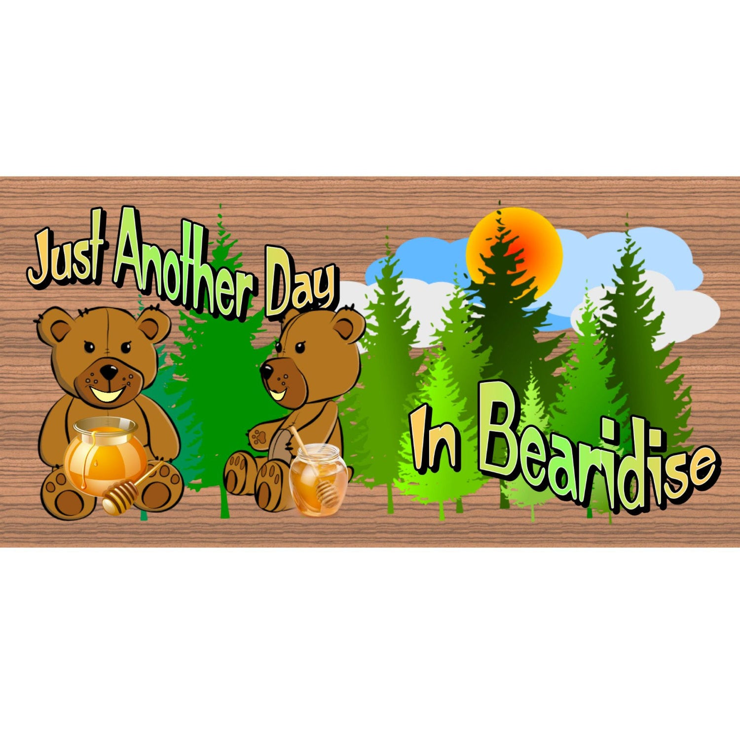 Bear Wood Signs -GS 2132 - Camping Sign