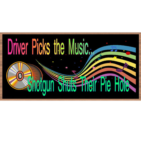 Wood Signs - Music - GS1997 - Wooden Sign with Saying - Rustic Wood Music Sign - Wall Saying