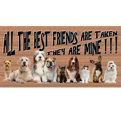 Dog Wood Signs -GS2165 - Friend plaque