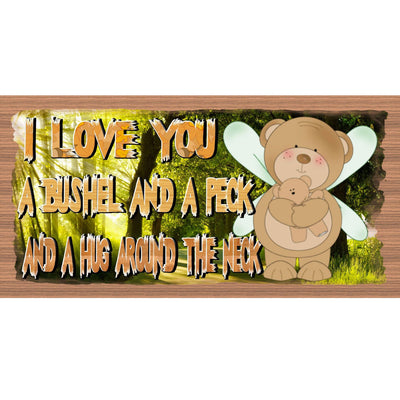 Romantic Wood Signs - I Love You A Bushel and A Peck- GS 2170-Wooden Sign