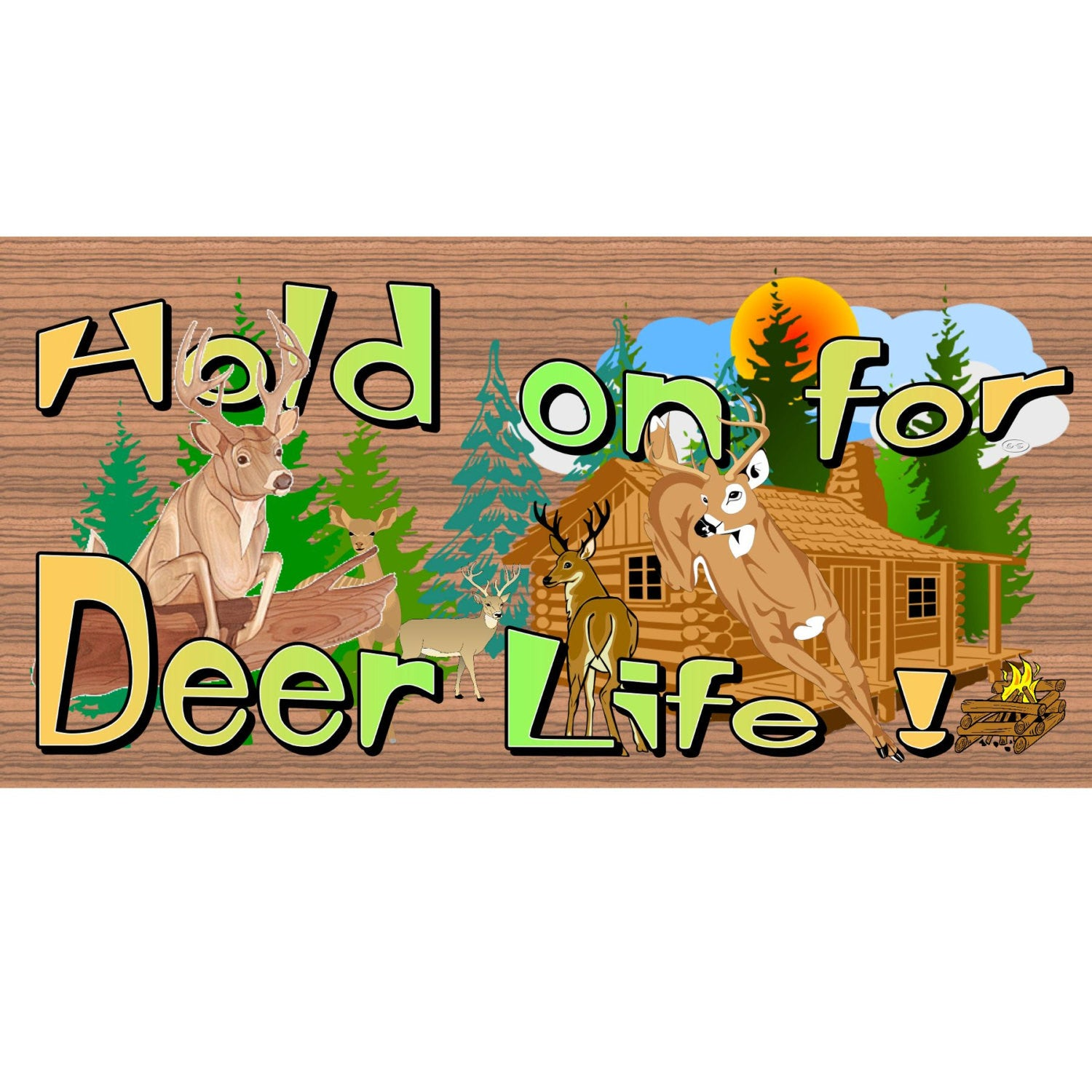 Deer Wood Signs - GS 2136- Deer Plaque