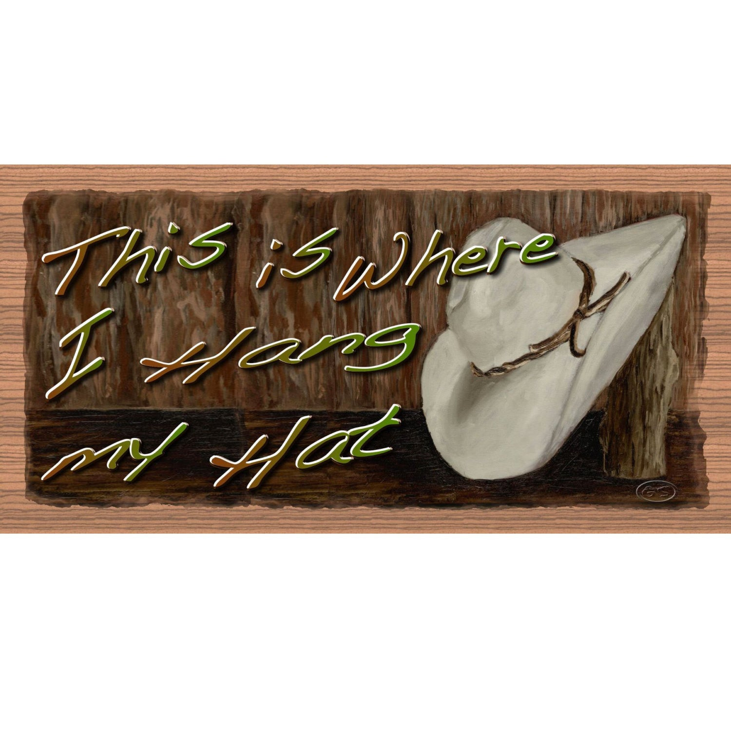 Born Country GS 2044 Wood Signs Western sign