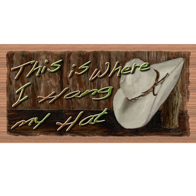 Western Wood Signs - Hat Sign - GS 2140 - Wooden Plaque
