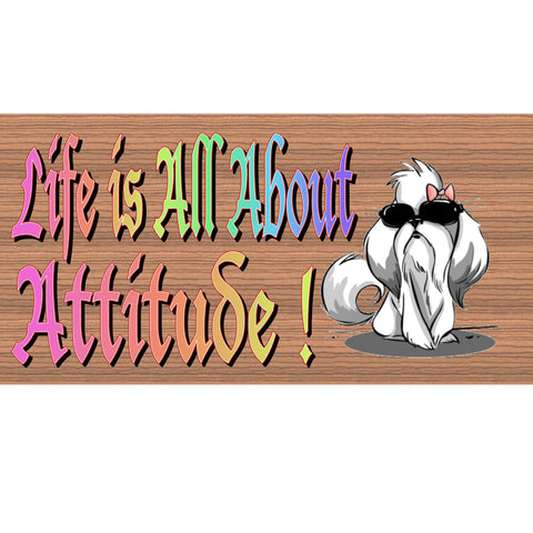 Wood Signs - -Attitude- GS2147 - Wood sign with Saying - rustic wood sign