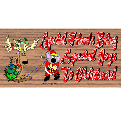 Christmas Wood Signs - GS 1546 -Santa Plaque