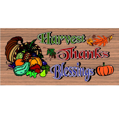Thanksgiving Wood Signs - GS1551 -Thanksgiving Wood Plaque