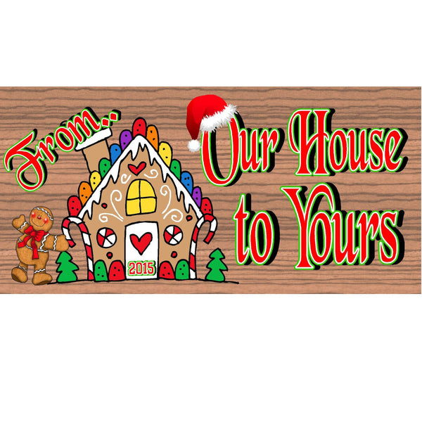 Wood Signs - Handmade Wood Sign Gingerbread -GS1557 -Wood Plaque Ginglerbread - Christmas Sign