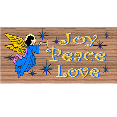 Christmas Wood Signs- Joy Peace Love- GS 1574- Christmas Plaque