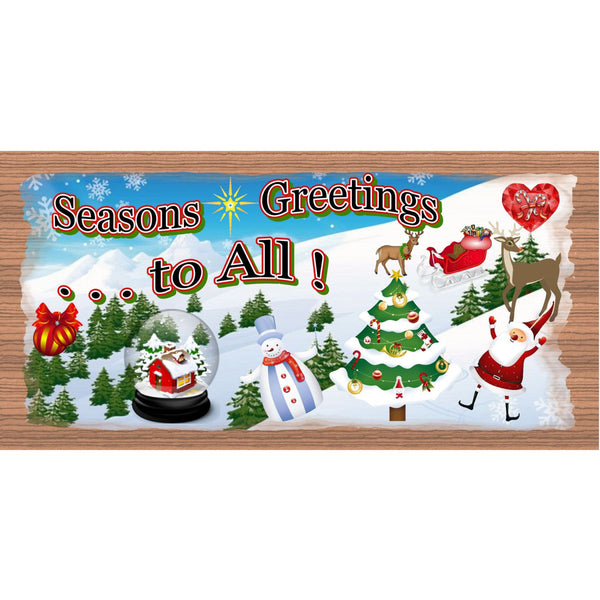 Christmas Wood Signs - Handmade Wood Sign Christmas - GS1453 -Wood plaque Christmas -Holiday Snowman Santa