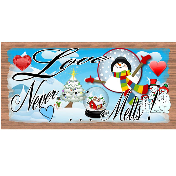 Christmas Wood Signs - GS1458-Snowman Plaque