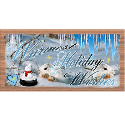 Christmas Wood Signs -GS 1465- Snowman Plaque
