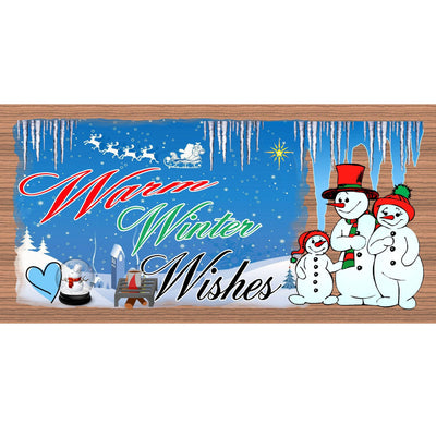 Christmas Wood Signs  -GS 1466- Snowman Plaque