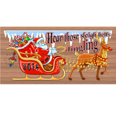 Christmas Wood Signs - Handmade Christmas sign GS1479 GiggleSticks Christmas wood plaque -Christmas Holiday Snowman Santa