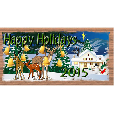 Christmas Wood Signs - Happy Holidays- GS 1480 - Customizable