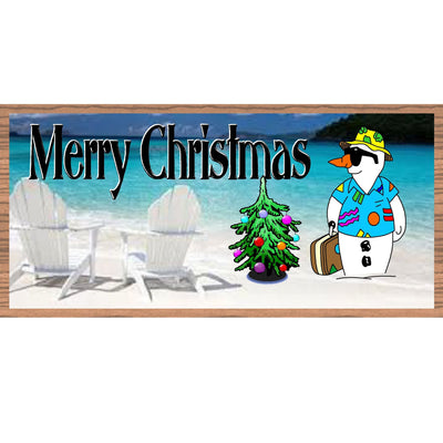 Christmas Wood Signs - GS 1544-Tropical Christmas Plaque
