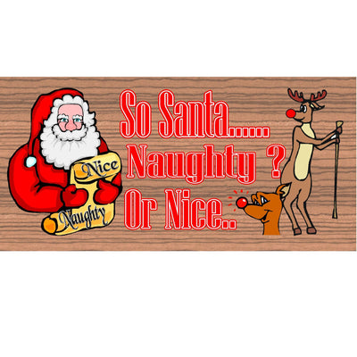 Christmas Wood Signs -  GS 1545- Santa Wood Plaque