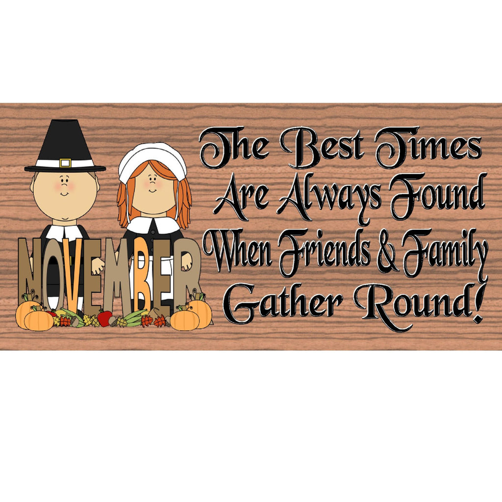 Wood Signs -Handmade Wood Sign Thanksgiving - GS1550 -Thanksgiving Wood Plaque - Primitive Sign