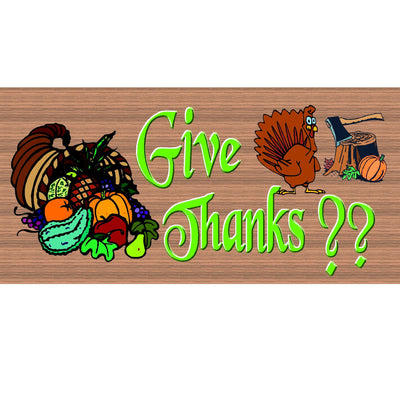 Thanksgiving Wood Signs - GS1552 -Thanksgiving Wood Plaque