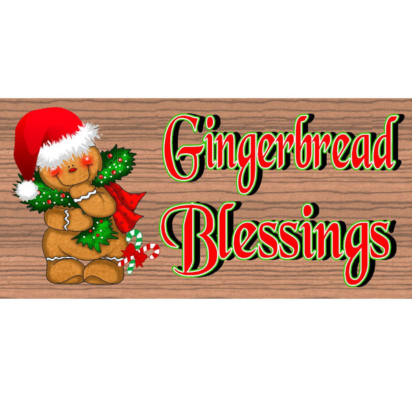 Gingerbread Wood Signs - Gingerbread- GS1556- Gingerbread Wood Plaque - Christmas Wood sign