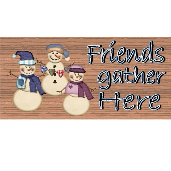 Christmas Wood Signs --GS 1558- Snowman Wood Plaque