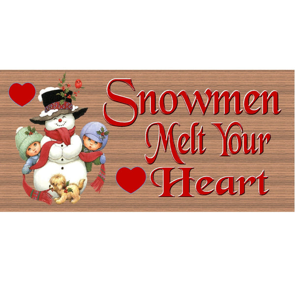 Wood Signs - Handmade Wood Sign Snowman- GS1559-Snowman Wood Plaque - Christmas Sign