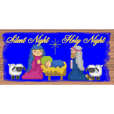 Christmas Wood Signs -  Silent Night Holy Night Plaque- GS1569 -Nativity Plaque
