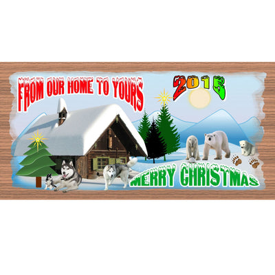 Christmas Wood Signs -GS 1449- Customizable Christmas Plaque