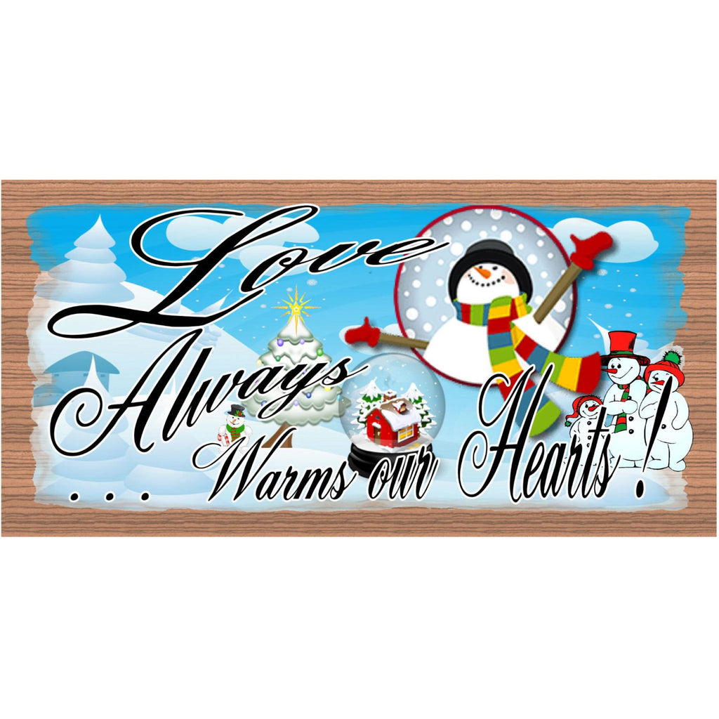 Christmas Wood Signs - GS 1456 -Snowman Christmas Plaque