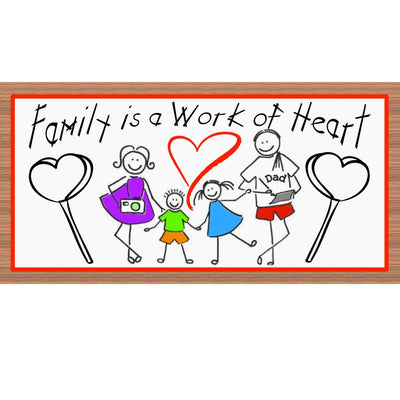 Family Wood Signs - GS 2178 - Family Plaque