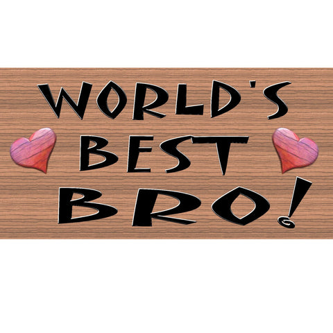 Wood Signs - Handmade Wood Sign Bro ,GS162, Primitive Handmade Wood Sign Bro, Handmade Wood sign Brother