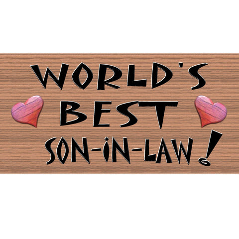 Son In Law Wood Signs - Son In Law Plaque - Primitive Son In Law sign- GS-195 - Son In Law Gift