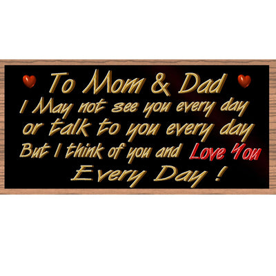 Mom and Dad Wood Signs - - GS2234- Mom and Dad Plaque