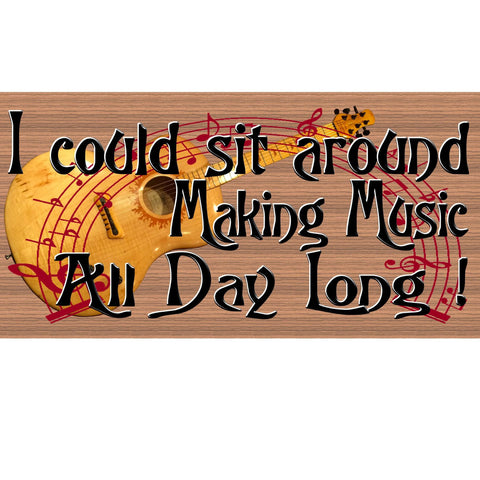 Wood Signs - Handmade wood sign Music ,GS2190, Primitive Music wood sign, Handmade music sign