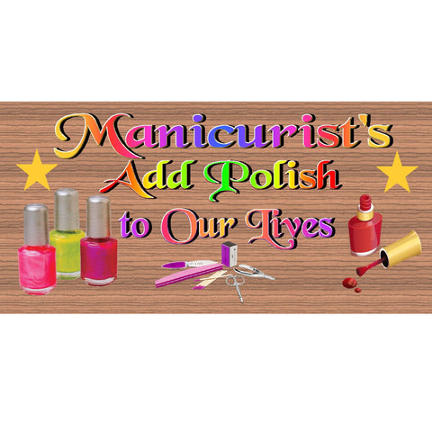 Wood Signs - Handmade Wood sign, Manicurists GS1966 Manicurists wood sign, Manicurists plaque