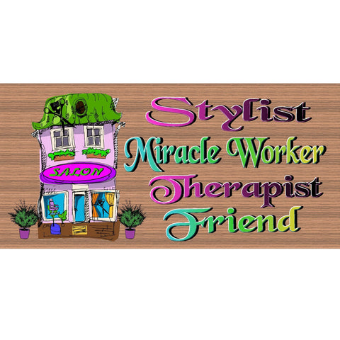 Wood Signs - Handmade Wood sign, Stylist - Hairdresser - Hair Salon -Stylist sign -GS599 Stylist wood plaque - Hairdresser sign