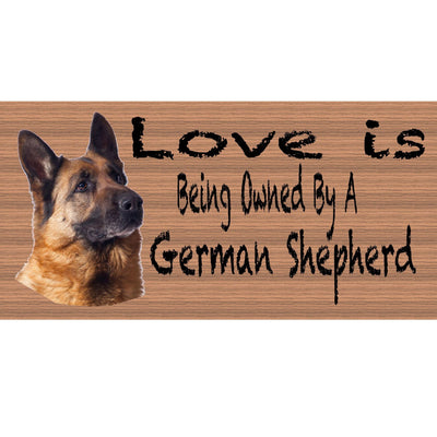 German Shepherd Wood Signs - German Shepherd sign - G S412 German Shephard Plaque