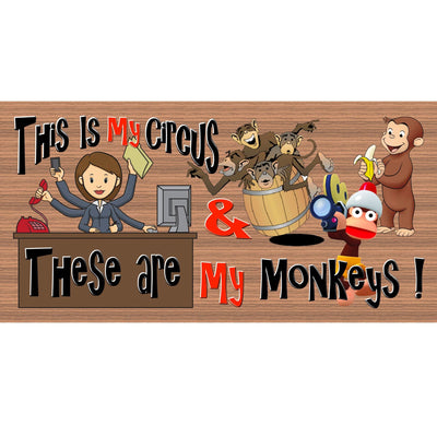 Monkey Wood Signs -This Is My Circus- GS 2322 - Monkey Plaque