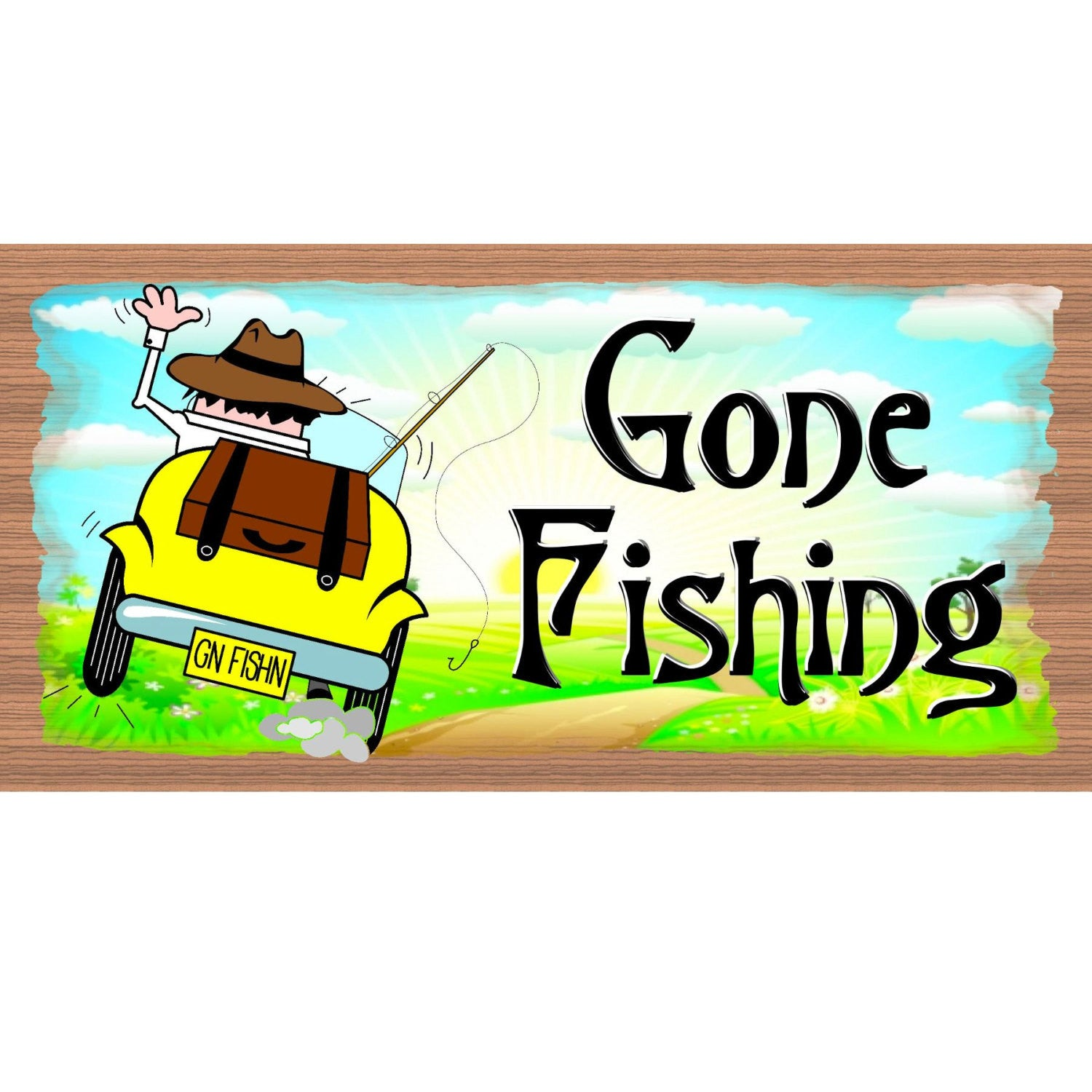Fishing Wood Signs - GS2337 - Fishing Wood Sign - Fishing plaque