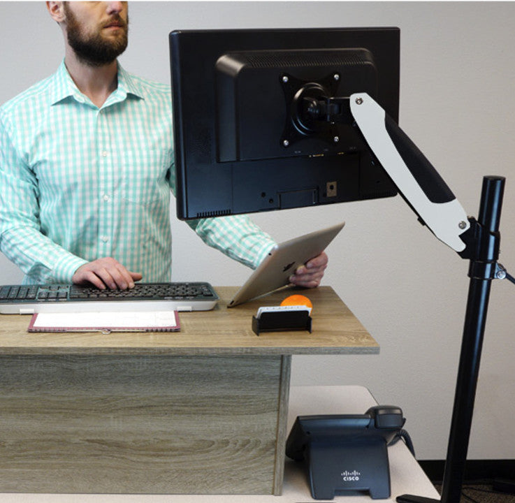 Sit-Stand Monitor Arm - Single Screen