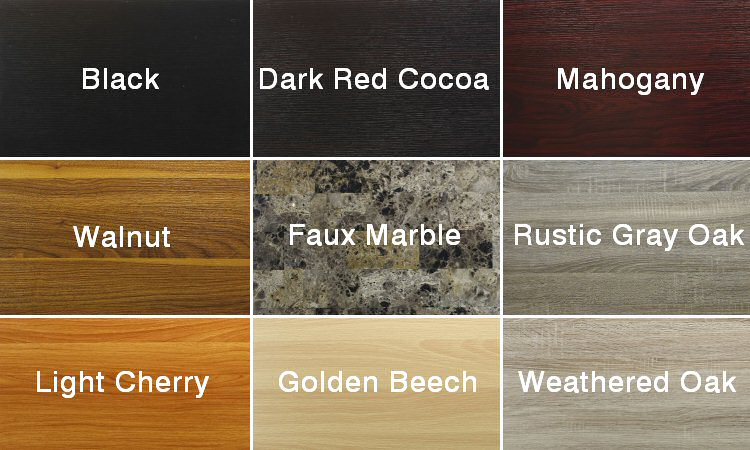 Miracle Desk wood finishes