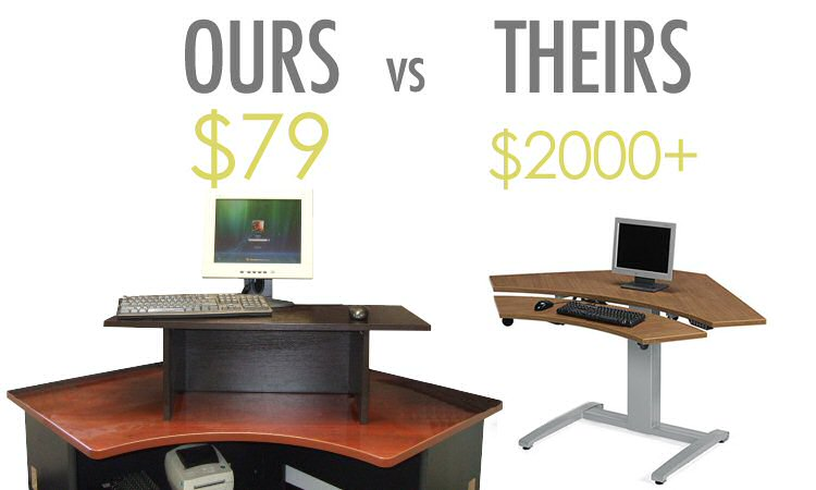 Miracle Desk inexpensive stand up desk