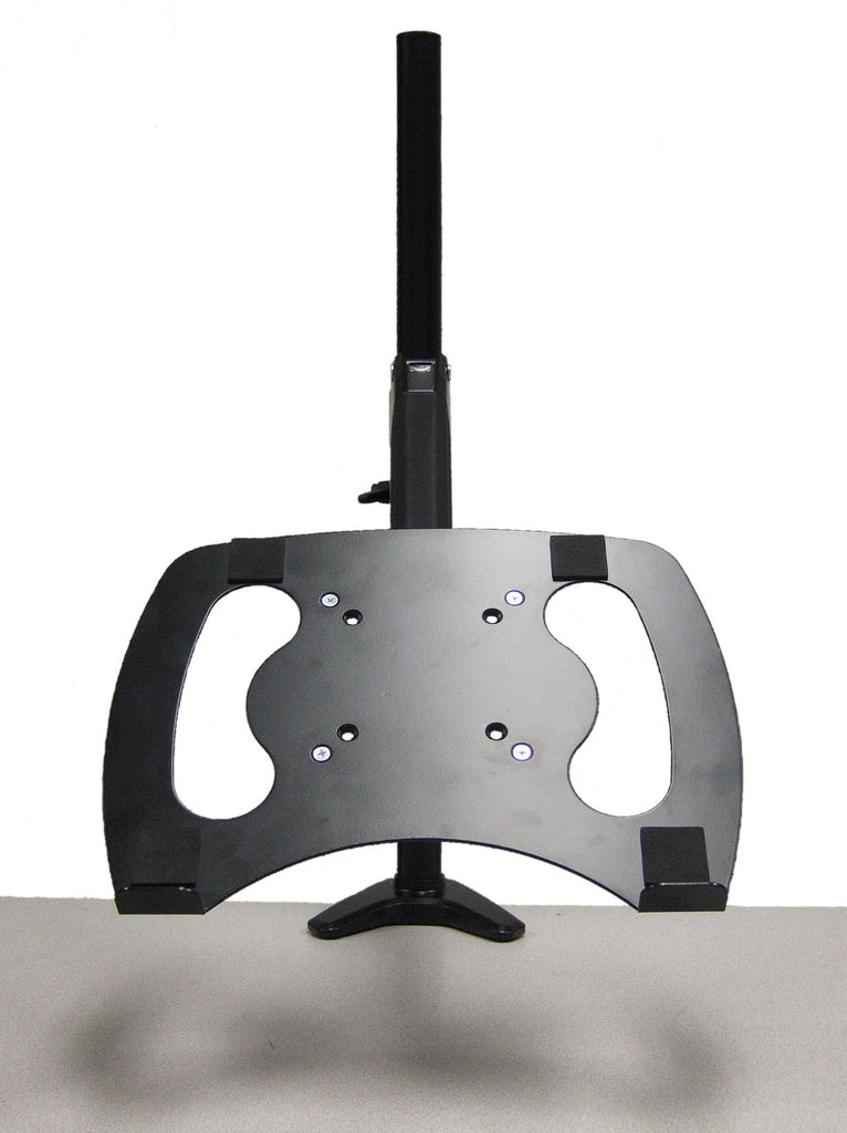 Premium Sit-Stand Monitor Arm Single Hydraulic Black including Laptop Stand
