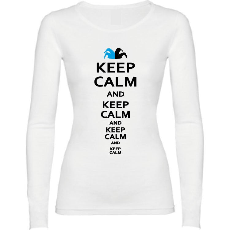 Camiseta manga larga chica - Keep calm and keep calm