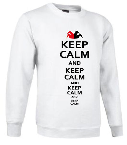 Sudadera sin capucha - Keep calm and keep calm