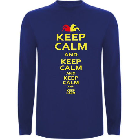 Camiseta manga larga chico - Keep calm and keep calm