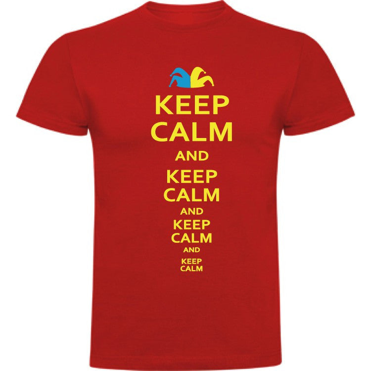 Camiseta infantil algodón - Keep calm and keep calm